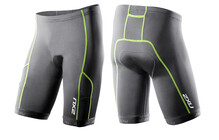 2XU Men&#039;s Comp Tri Short 9&quot; charcoal/vibrant gree